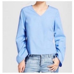Who What Wear Bell Sleeve Blouse Top Long Sleeve